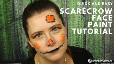 Snel en Makkelijk Schminkvoorbeeld ScareCrow | Video Tutorial