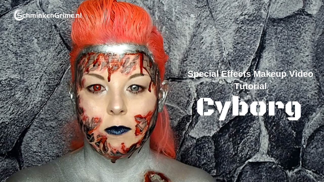 Special Effects Makeup Video Tutorial Cyborg