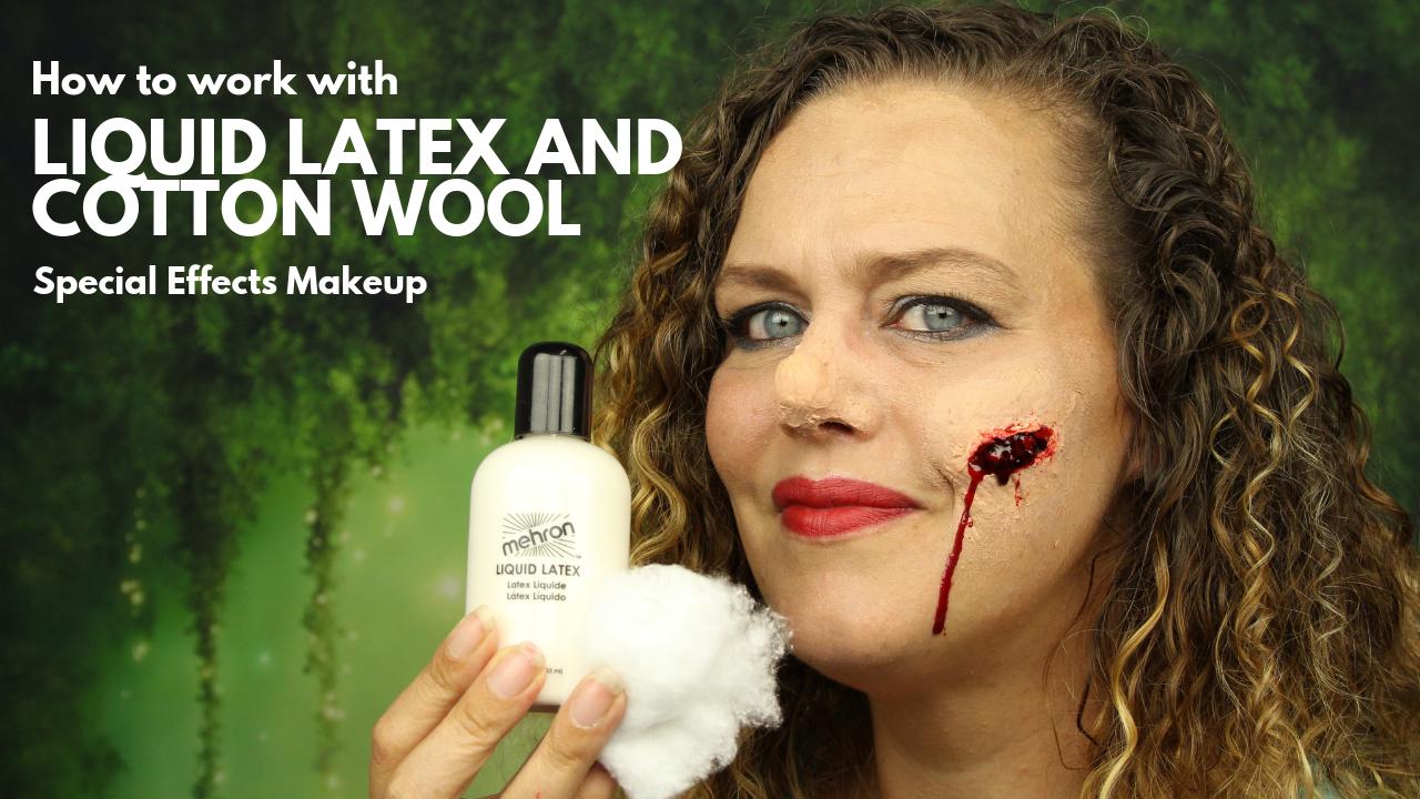 Werken met Liquid Latexx en watjes