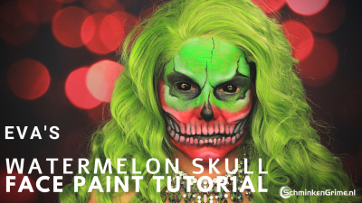 Watermelon Skull Tutorial