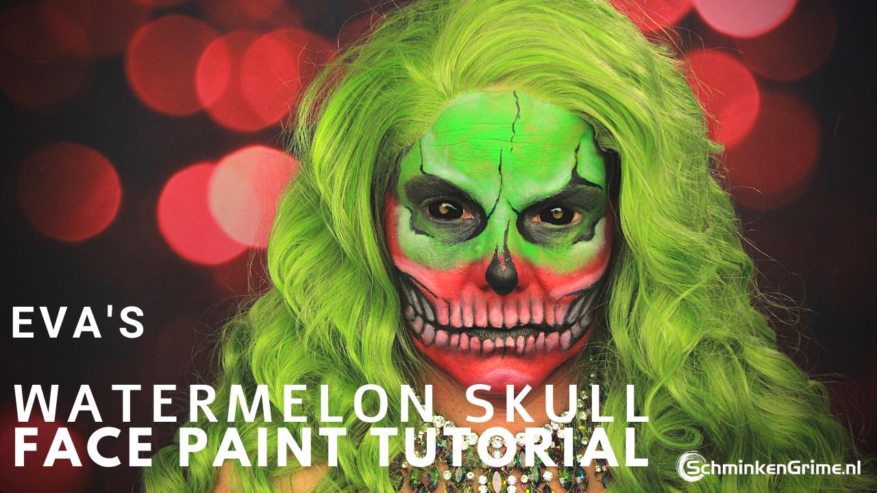 Watermelon Skull Tutorial