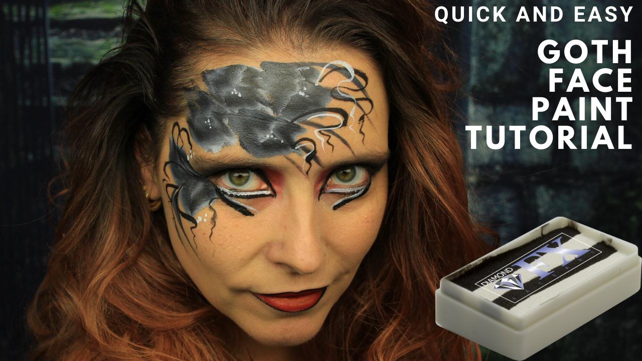 Goth Face Paint Tutorial